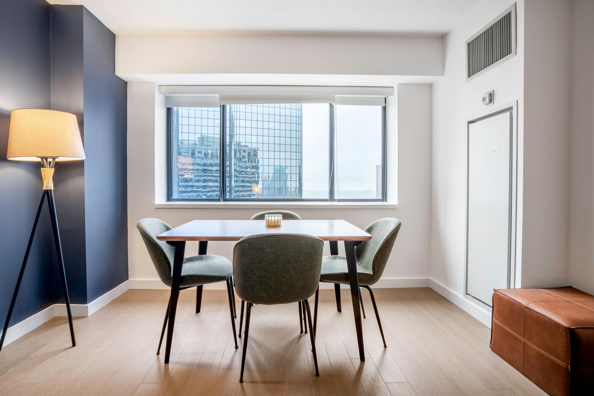 Dining table at Devonshire Place Apartment - Citybase Apartments
