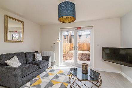 TV at Blackstone Walk House - Citybase Apartments