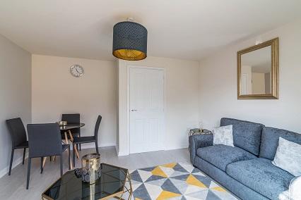 Sofa at Blackstone Walk House - Citybase Apartments
