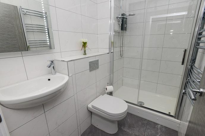 Bathroom at Arena Serviced Apartments - Citybase Apartments