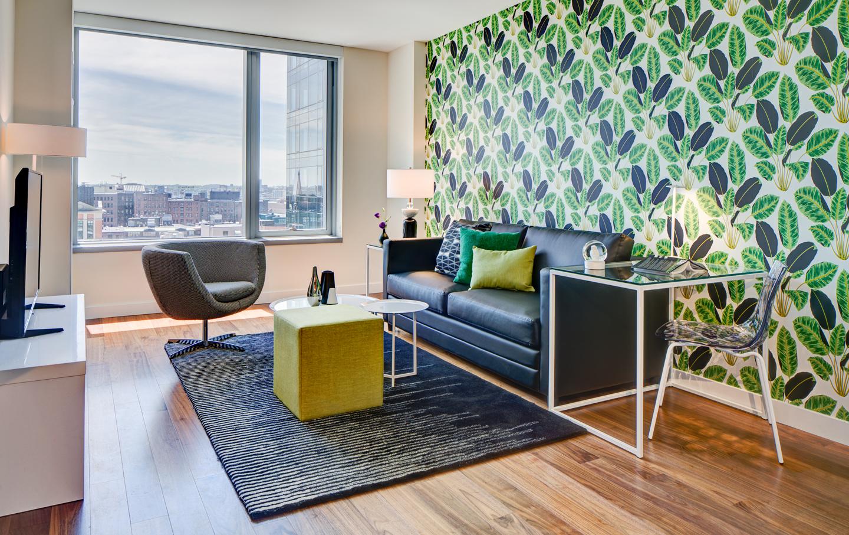 Living room at The Benjamin Serviced Apartments - Citybase Apartments