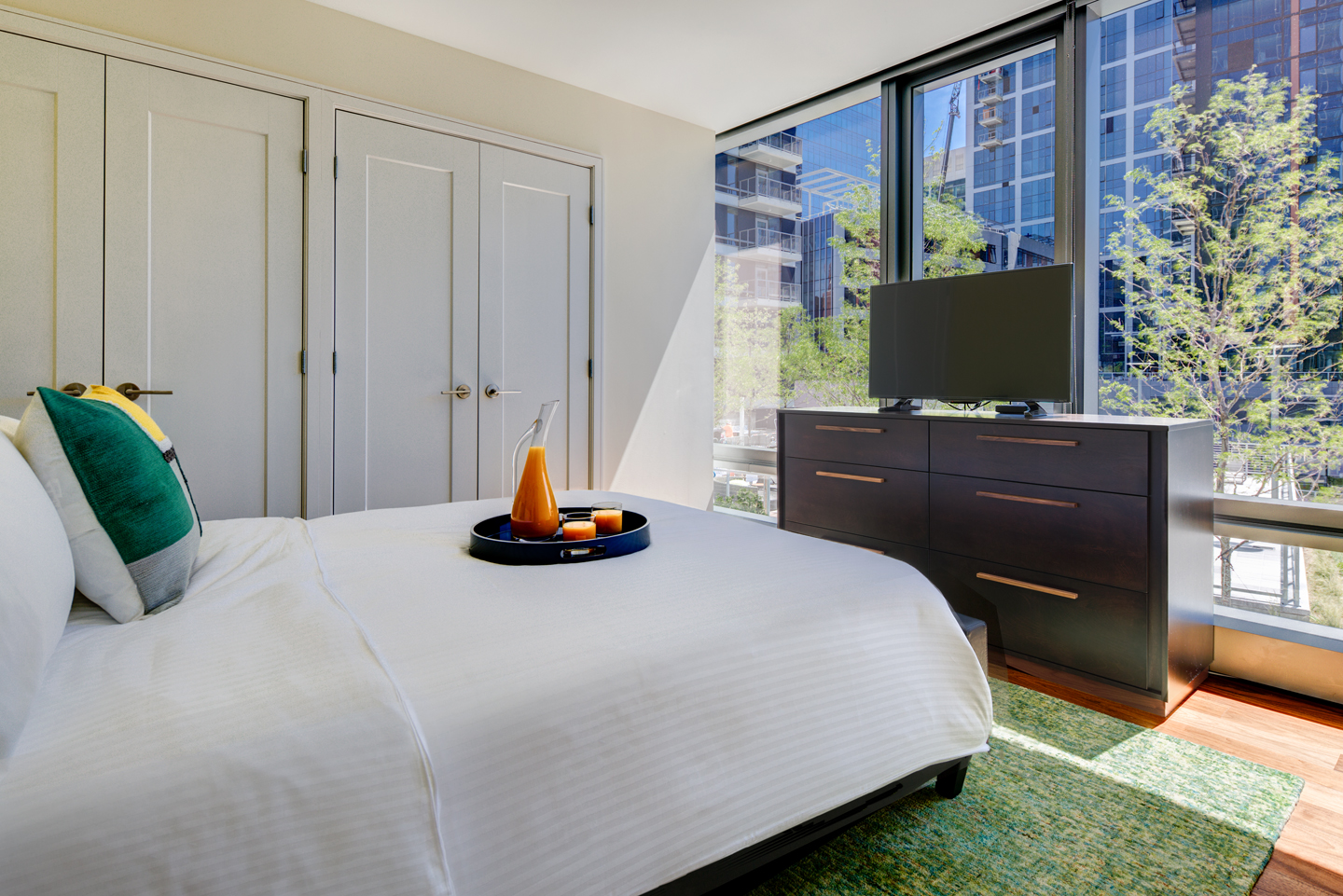 Bright bedroom at The Benjamin Serviced Apartments - Citybase Apartments