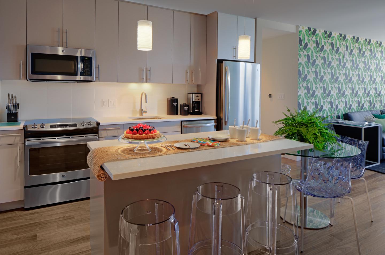 Kitchen facilities at The Benjamin Serviced Apartments - Citybase Apartments
