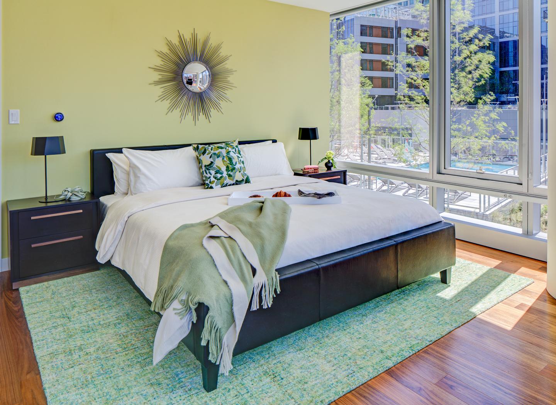 Comfortable bed at The Benjamin Serviced Apartments - Citybase Apartments