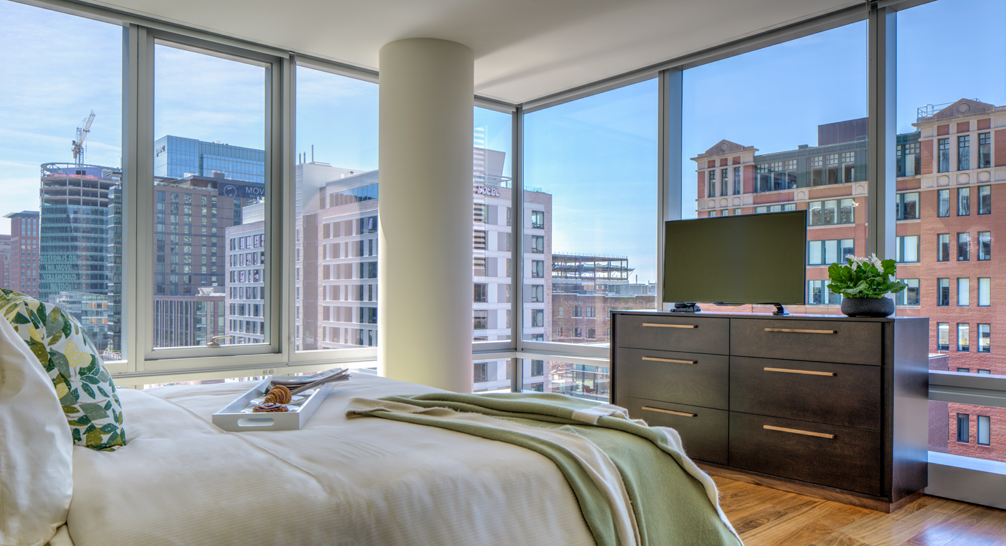 Modern bedroom at The Benjamin Serviced Apartments - Citybase Apartments