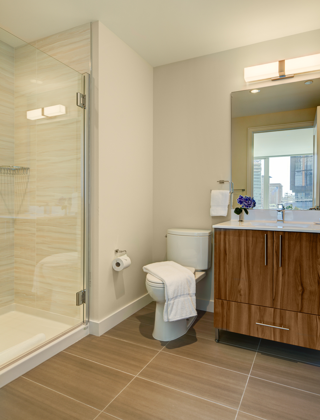 Shower at The Benjamin Serviced Apartments - Citybase Apartments