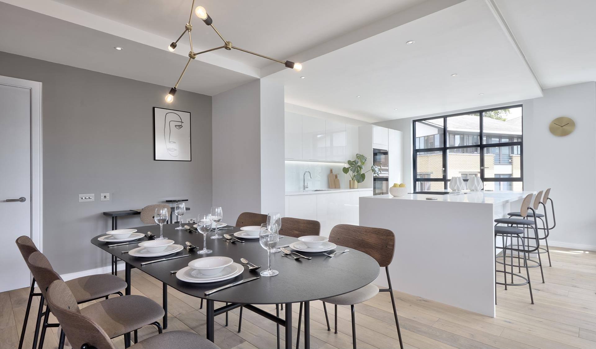 Dining room table at STAY Camden Serviced Apartments - Citybase Apartments