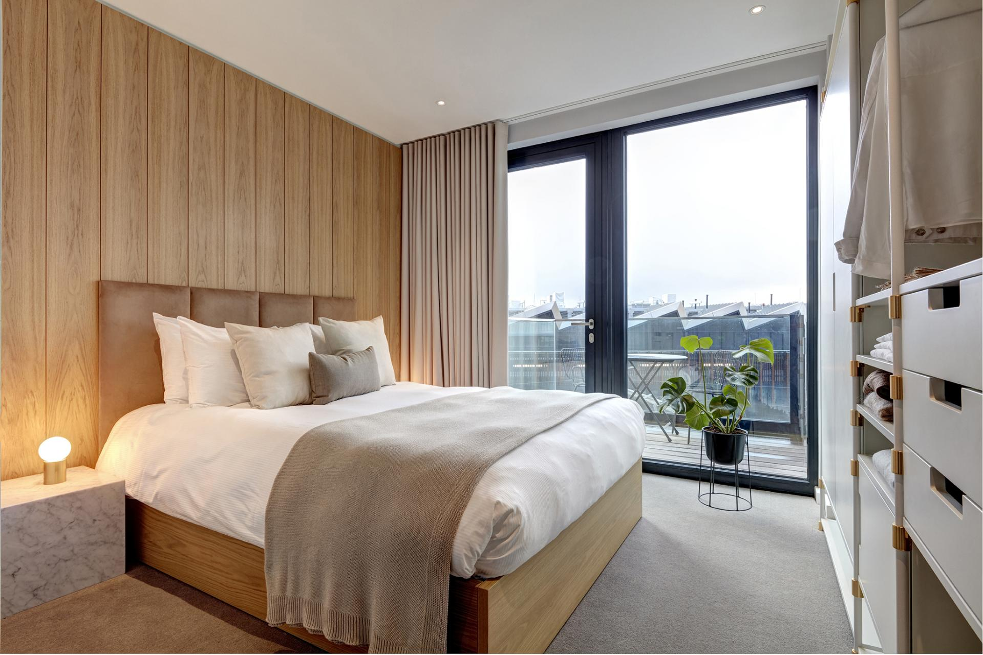 Large window at STAY Camden Serviced Apartments, Camden, London - Citybase Apartments