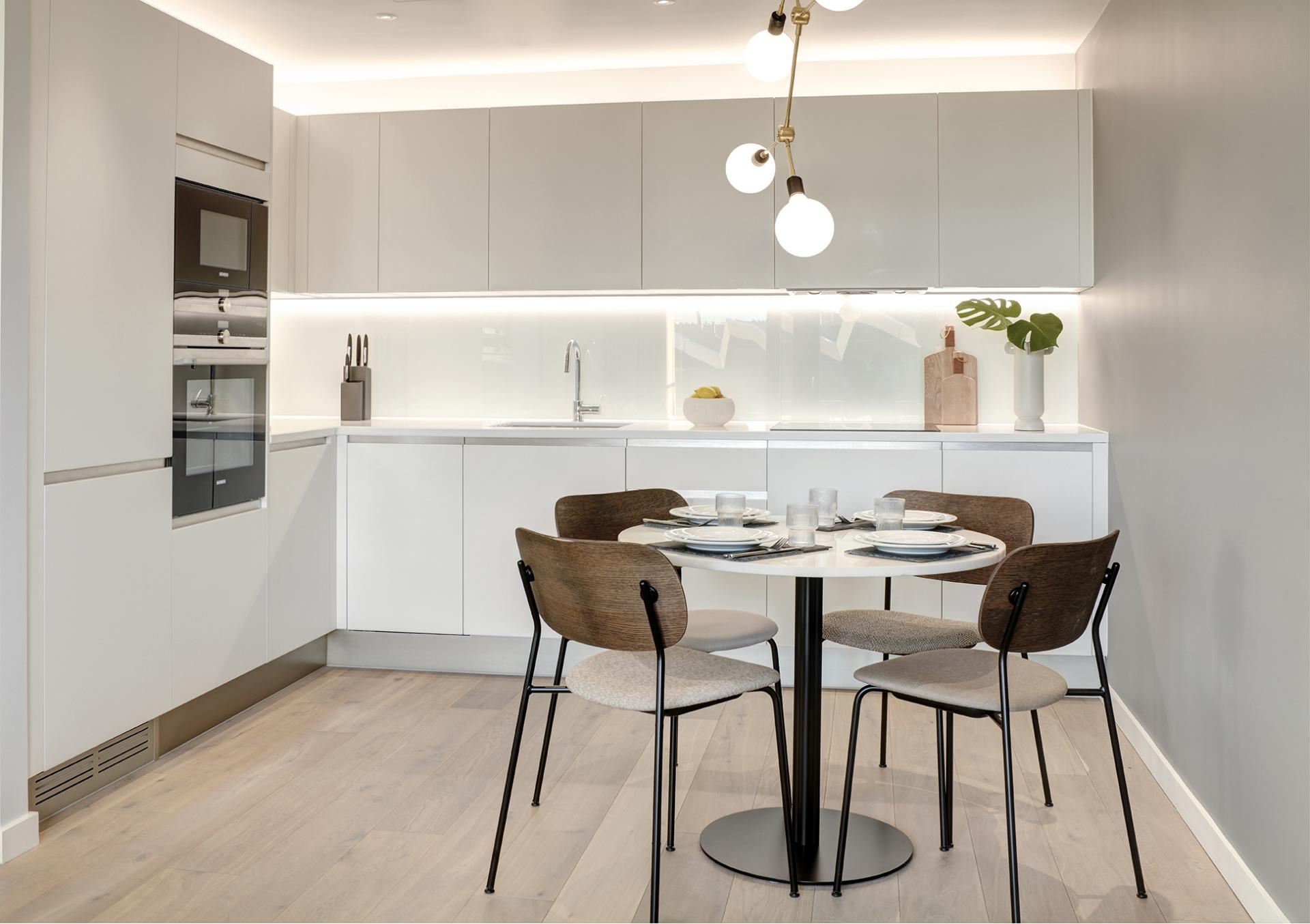 Kitchen diner at STAY Camden Serviced Apartments, Camden, London - Citybase Apartments