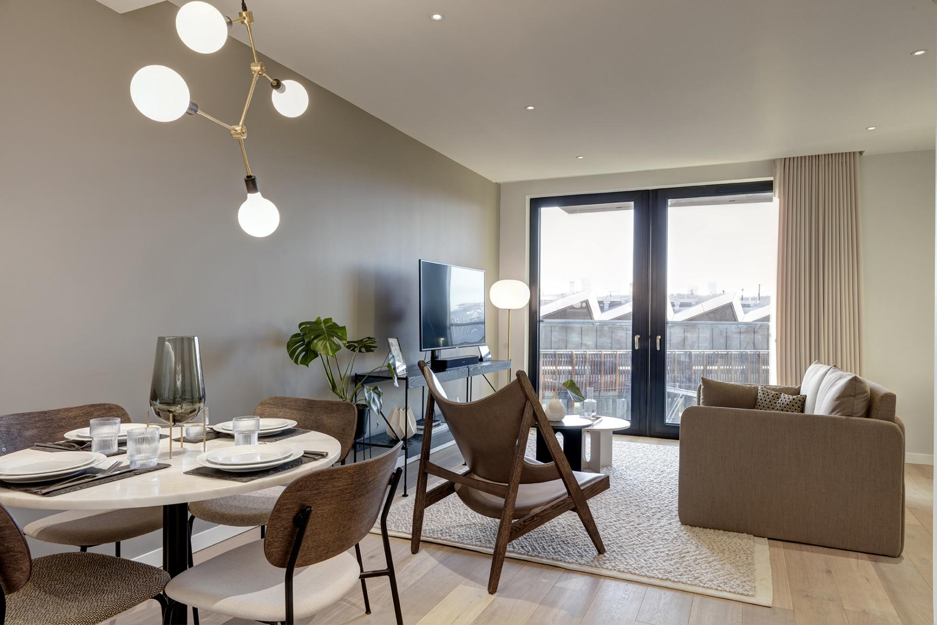 Open-plan at STAY Camden Serviced Apartments, Camden, London - Citybase Apartments