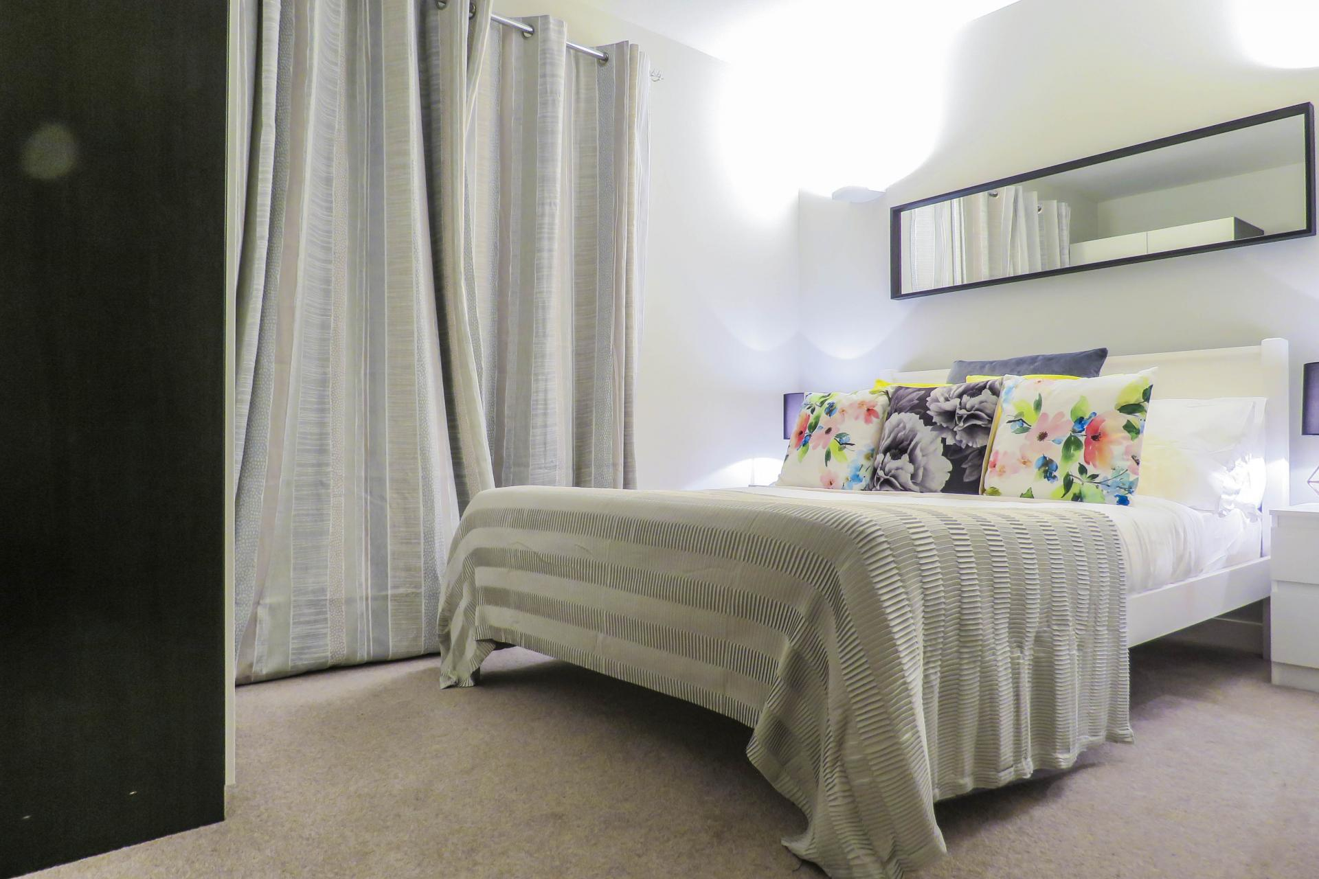 Bed spread at Jewellery Quarter Serviced Apartments - Citybase Apartments