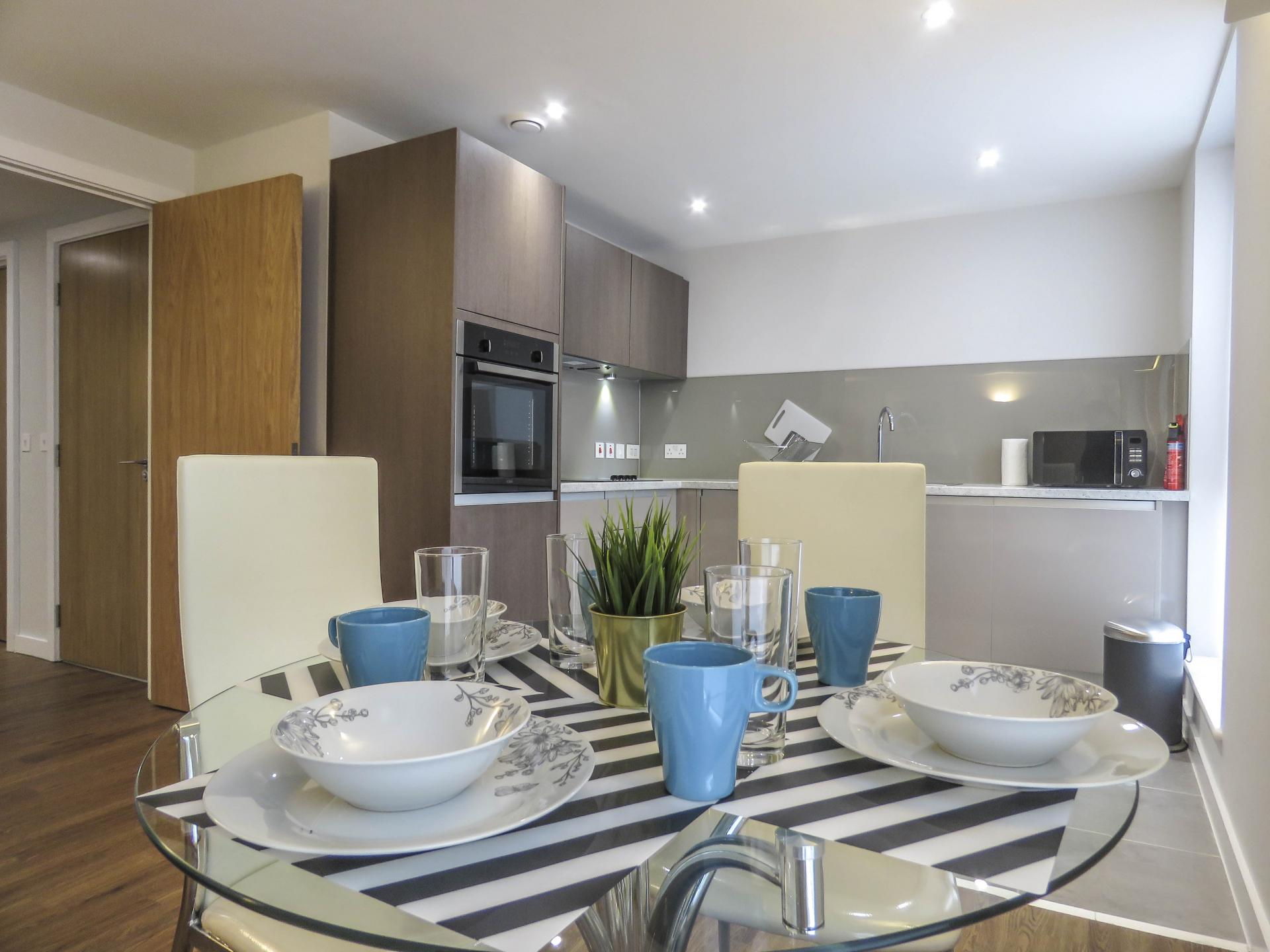 Tables at Jewellery Quarter Serviced Apartments - Citybase Apartments