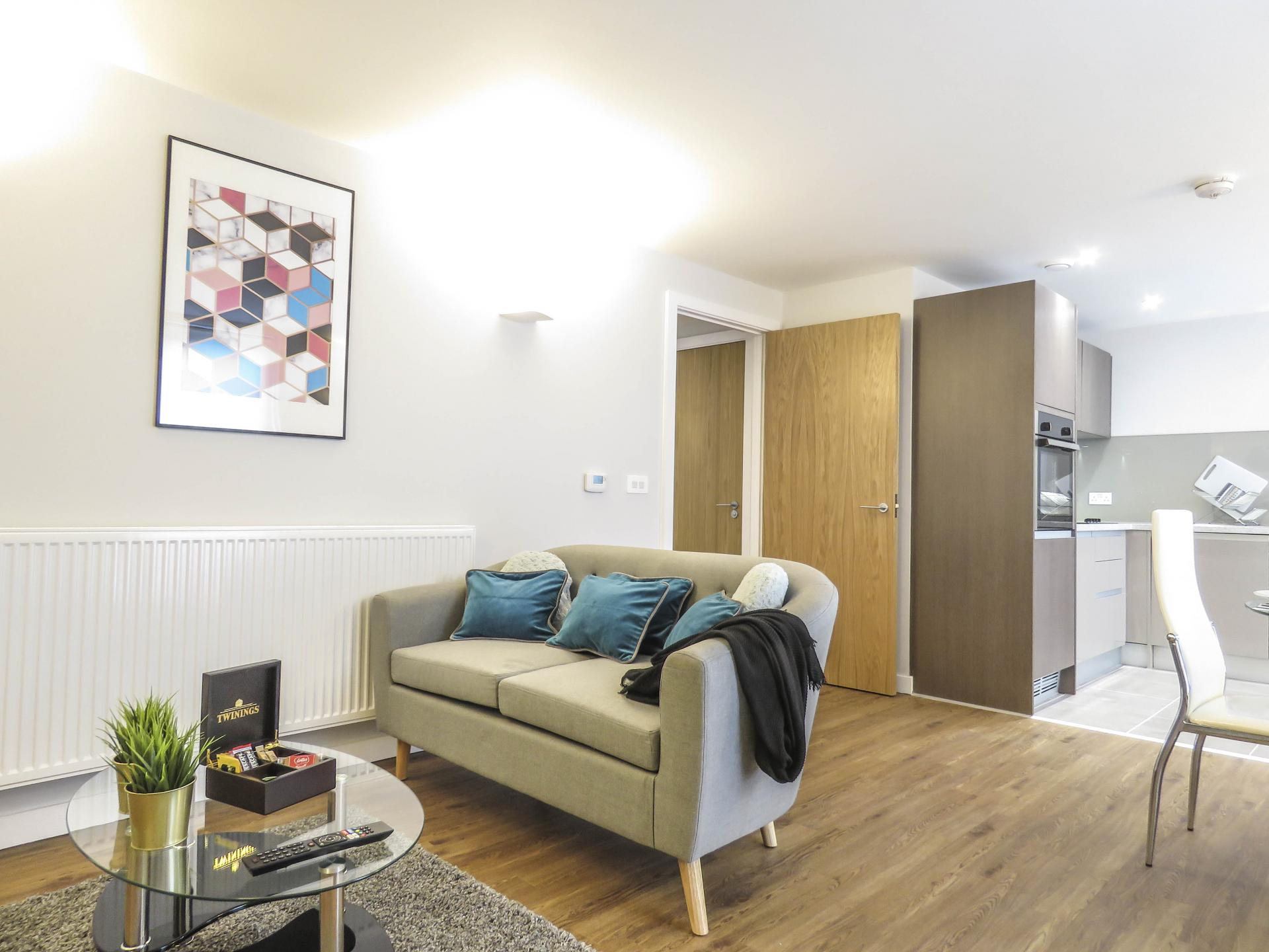 Sofa at Jewellery Quarter Serviced Apartments - Citybase Apartments