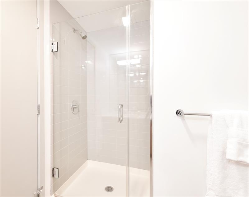 Shower at 315 on A Apartments - Citybase Apartments