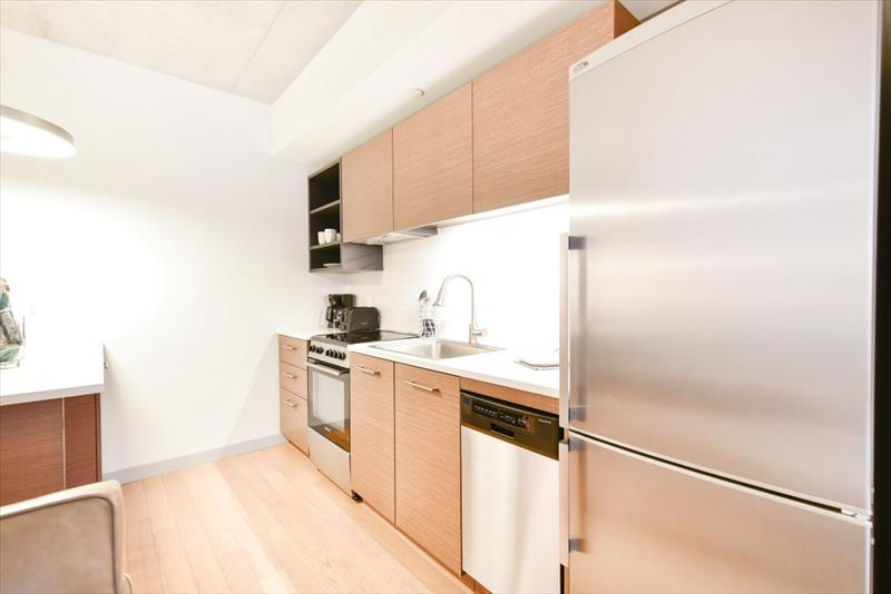 Kitchen at 315 on A Apartments - Citybase Apartments