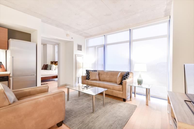 Living room at 315 on A Apartments - Citybase Apartments