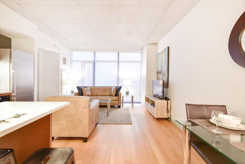 Spacious living area at 315 on A Apartments - Citybase Apartments
