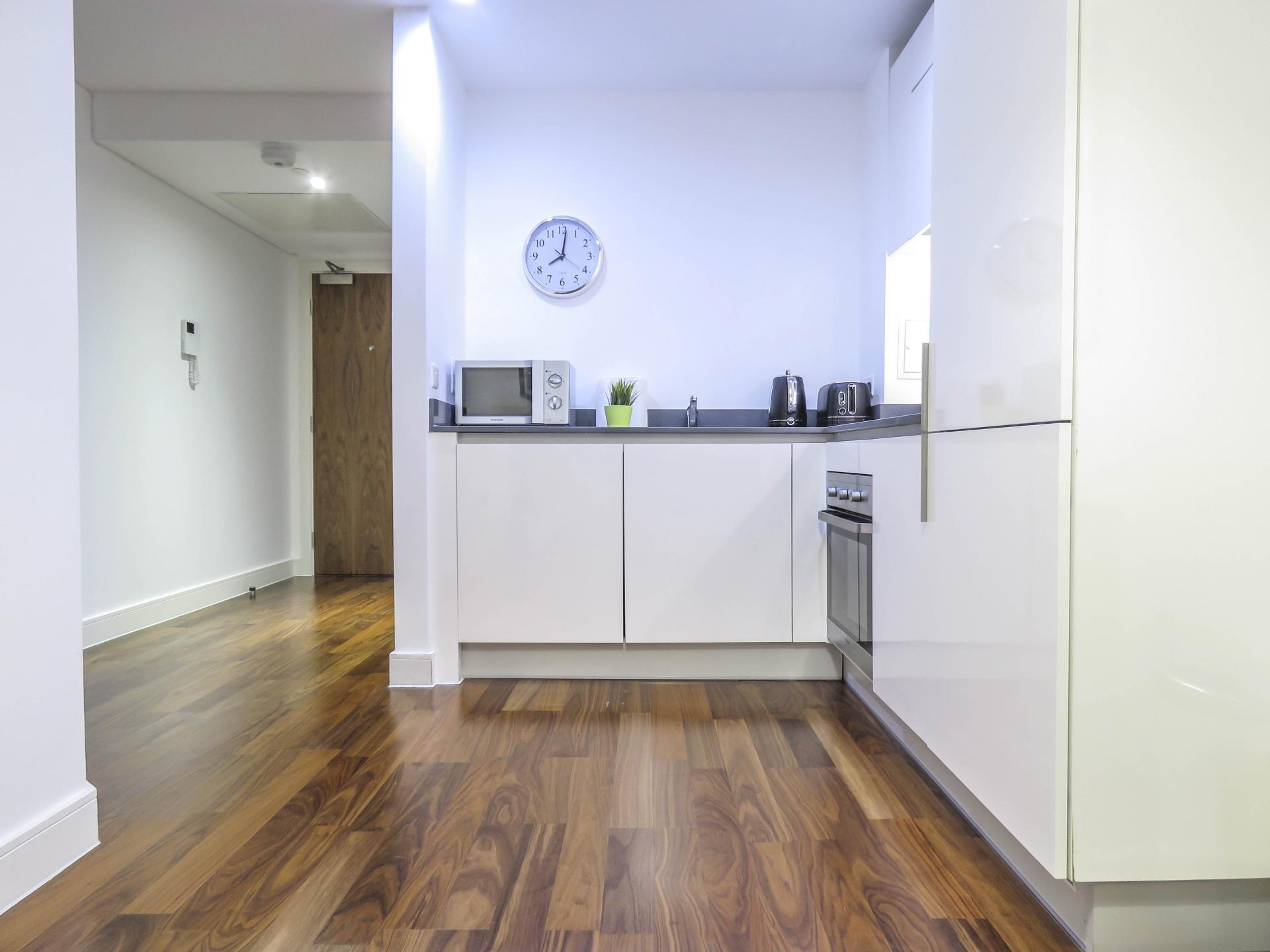 Kitchen at Hagley Road Serviced Apartment - Citybase Apartments