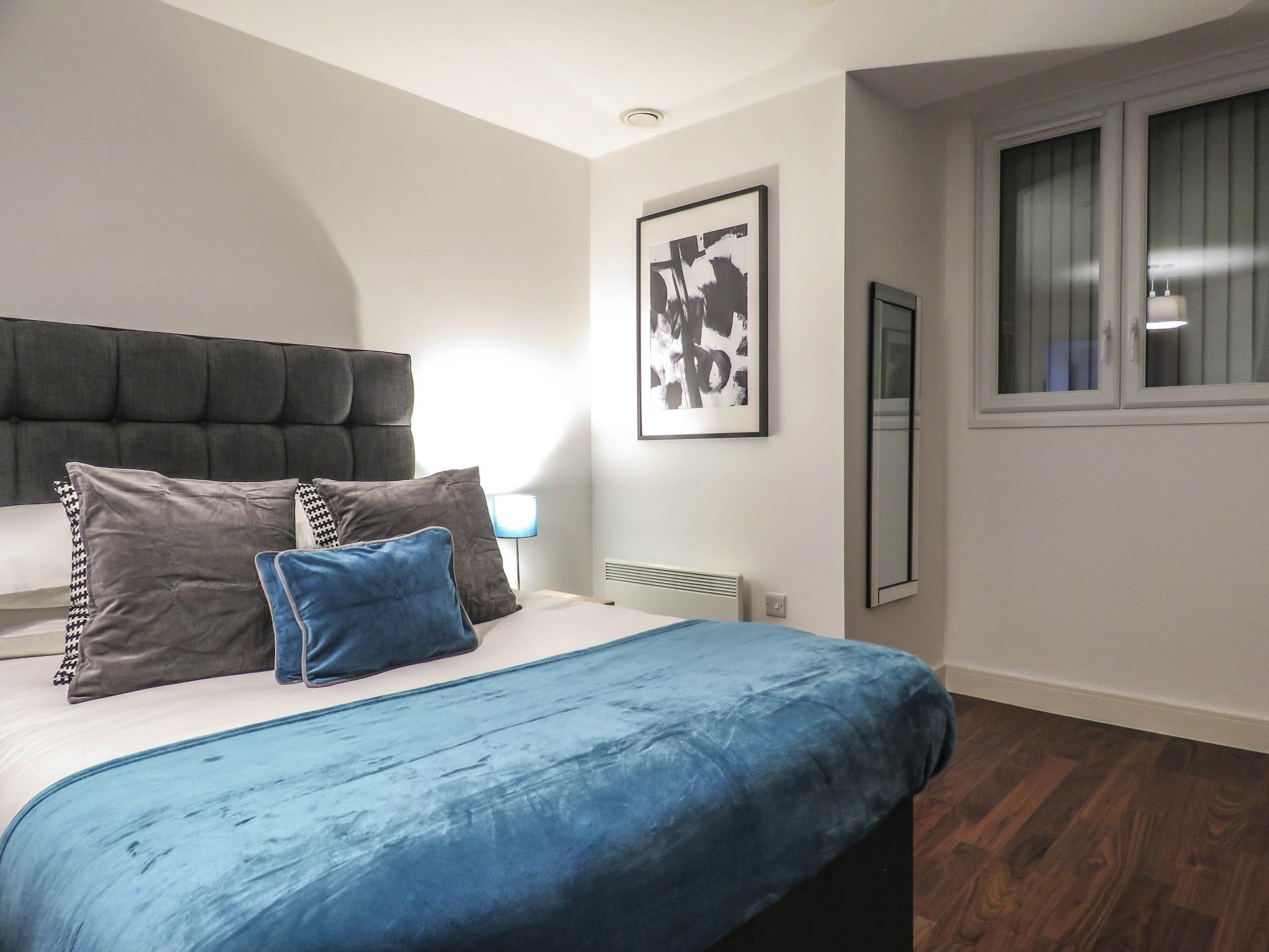 Bedroom at Hagley Road Serviced Apartment - Citybase Apartments