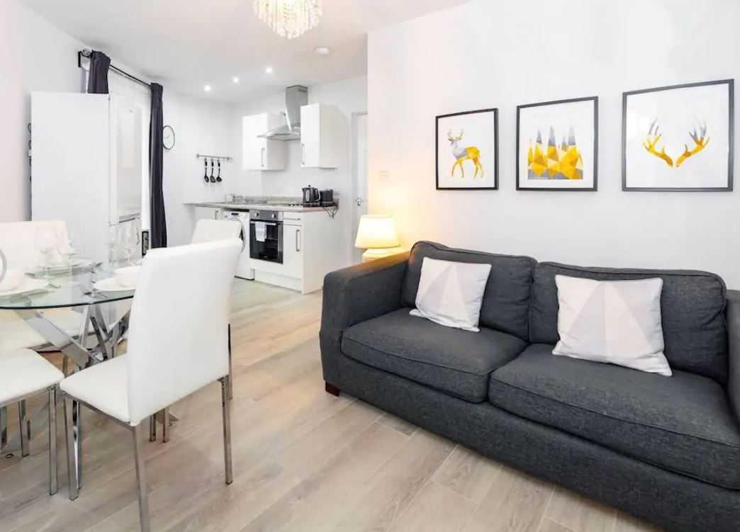 Sofa at Barall Court Apartments - Citybase Apartments