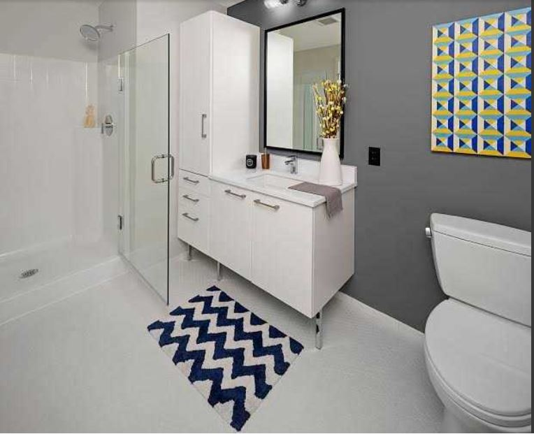 Bathroom at Ink Block Apartment - Citybase Apartments