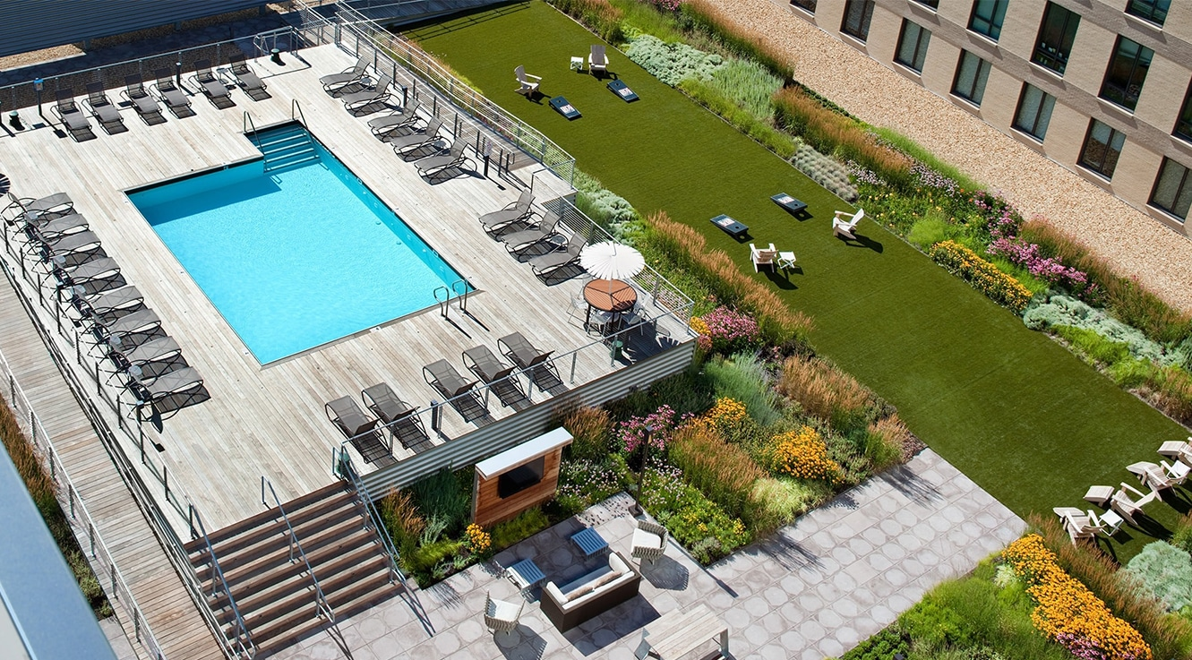 Pool at Ink Block Apartment - Citybase Apartments