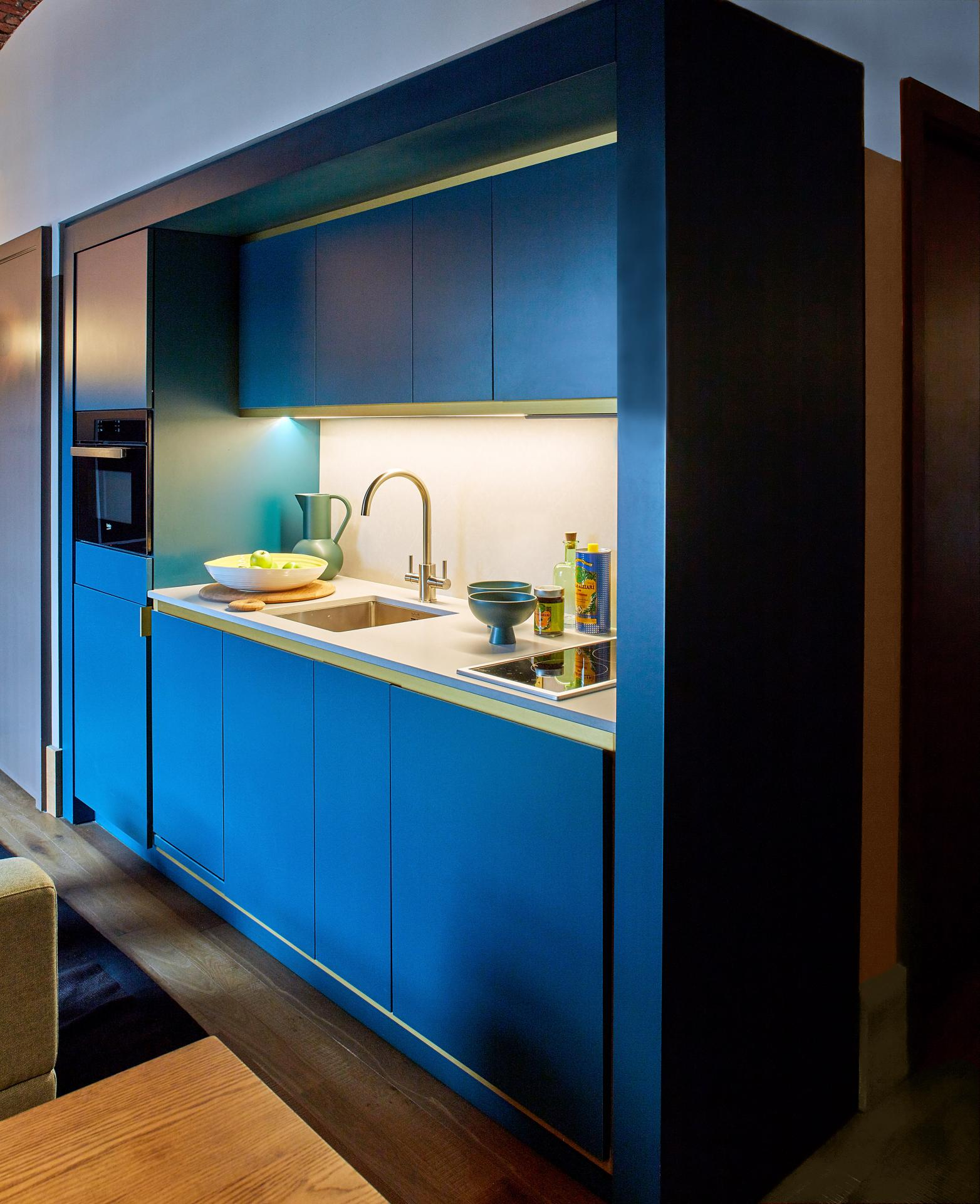 Kitchenette at Native Manchester Apartments - Citybase Apartments