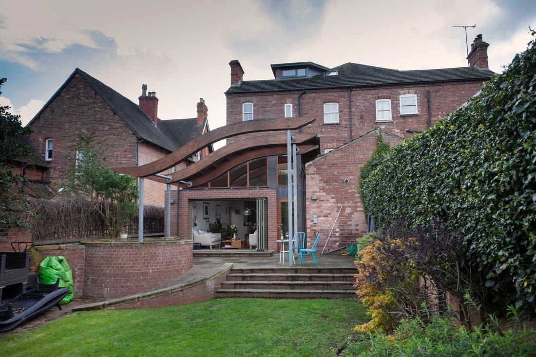 Back garden at Trent Bridge House - Citybase Apartments