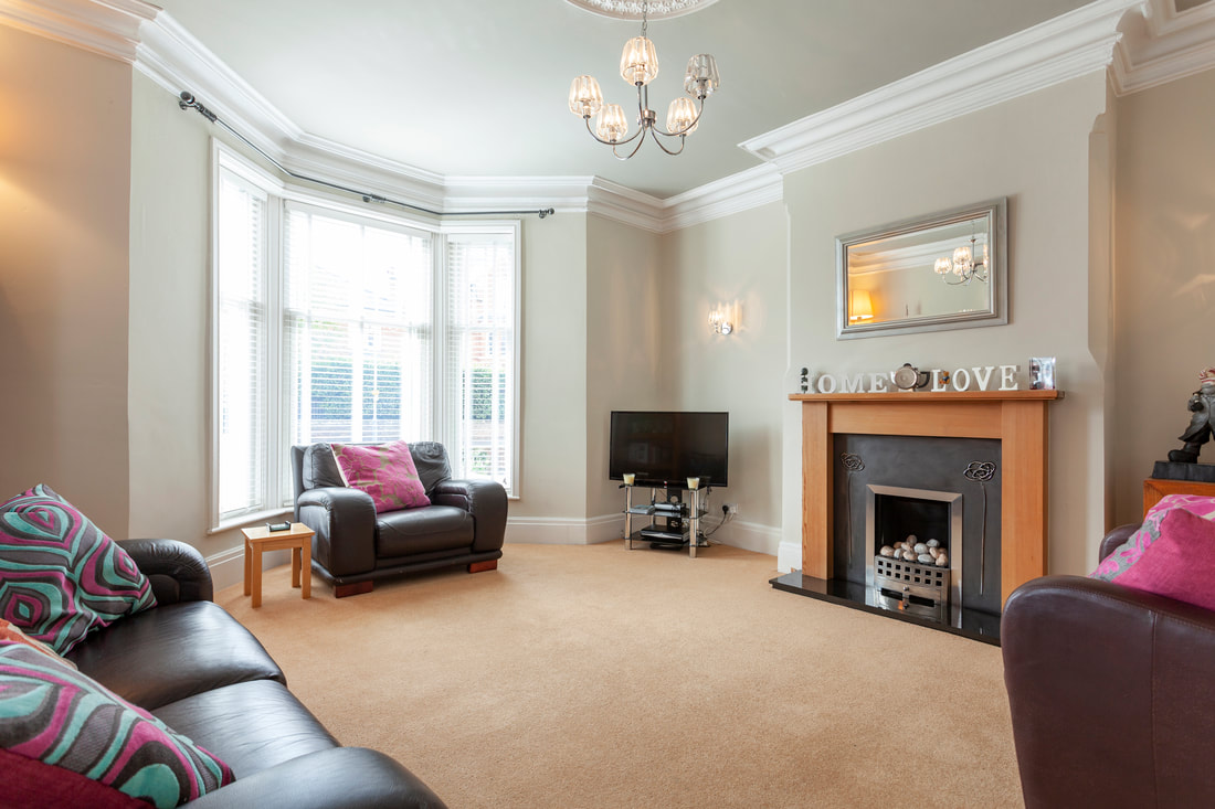 Fireplace at Trent Bridge House - Citybase Apartments