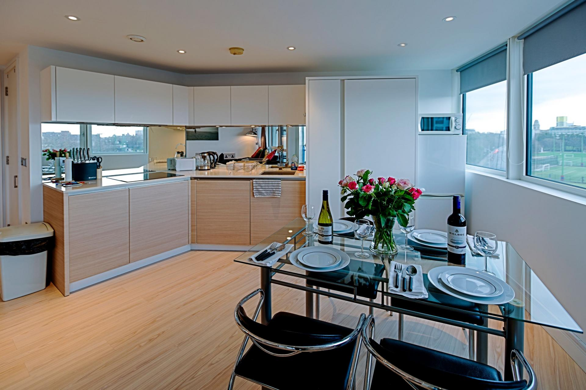 Kitchen at Gunwharf Quays Serviced Apartments - Citybase Apartments