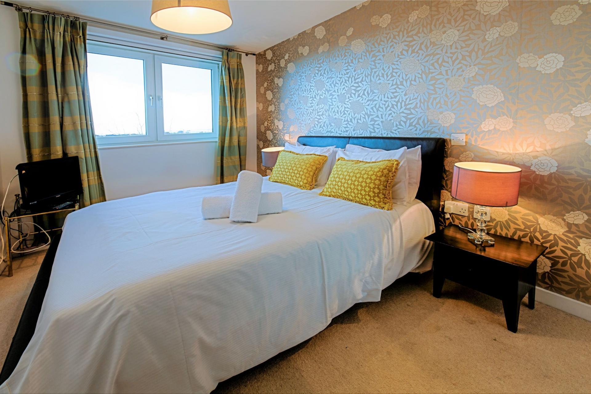 Bedroom at Gunwharf Quays Serviced Apartments - Citybase Apartments