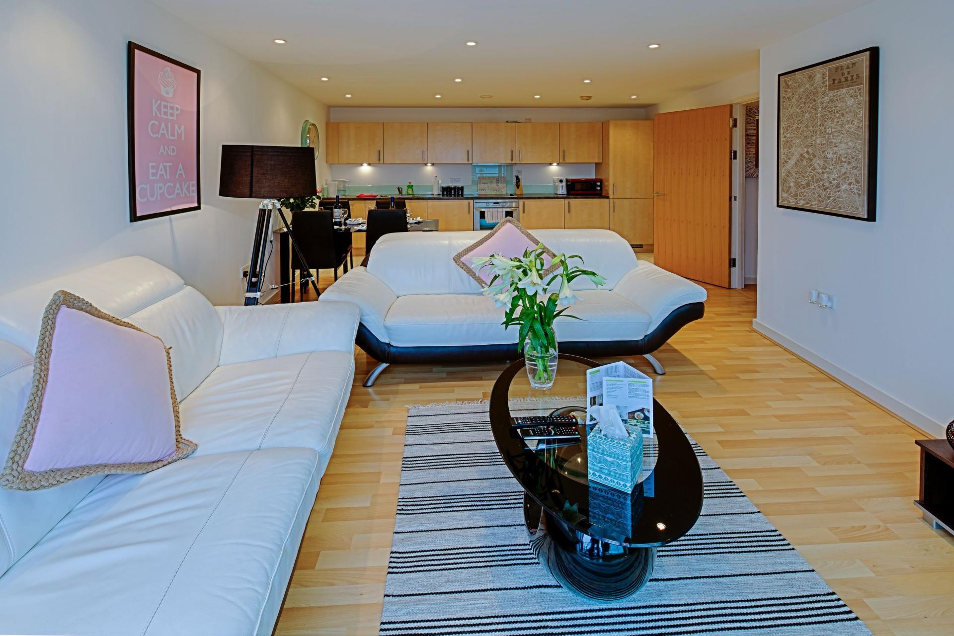 Sofa at Gunwharf Quays Serviced Apartments - Citybase Apartments
