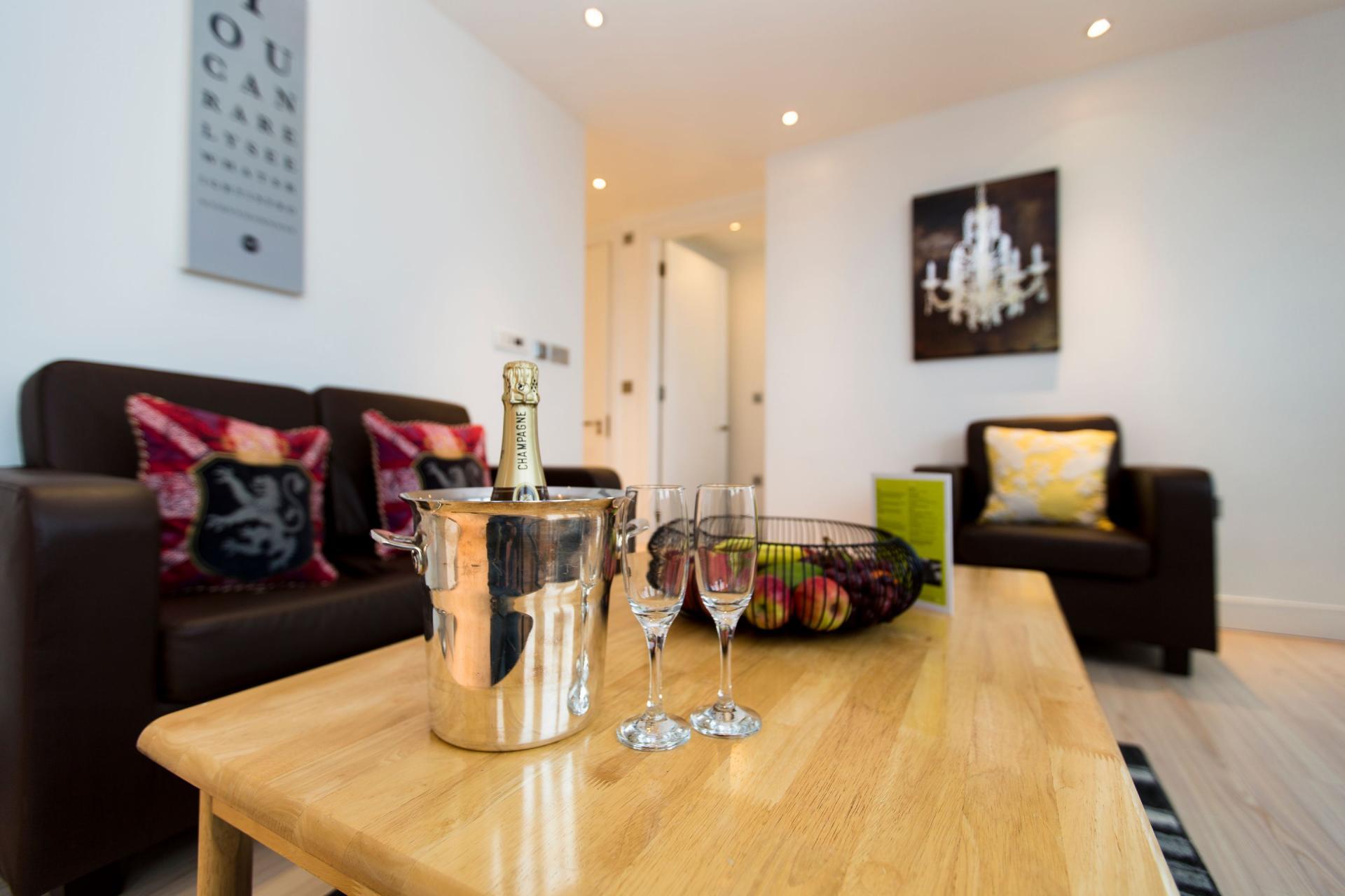 Coffee table at Gunwharf Quays Serviced Apartments - Citybase Apartments