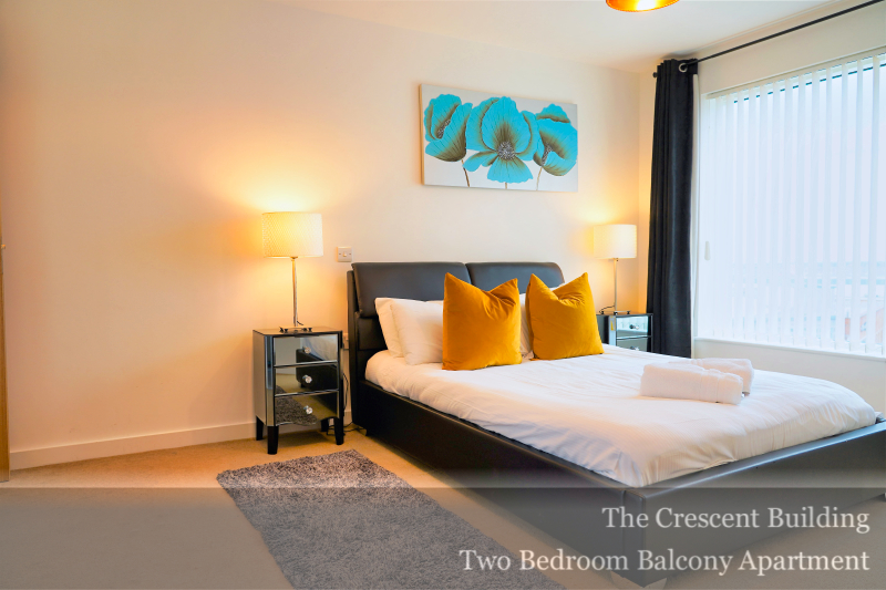 Large bedroom at Gunwharf Quays Serviced Apartments, Gunwharf Quays, Portsmouth - Citybase Apartments