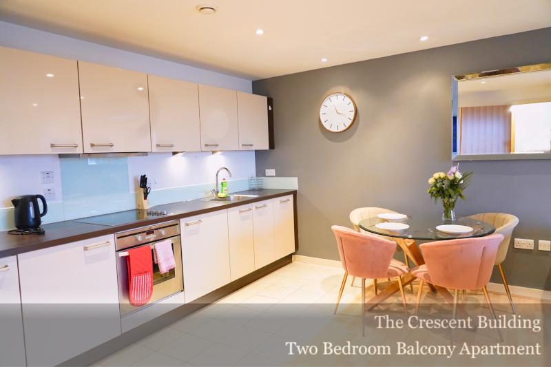 Kitchen at Gunwharf Quays Serviced Apartments, Gunwharf Quays, Portsmouth - Citybase Apartments