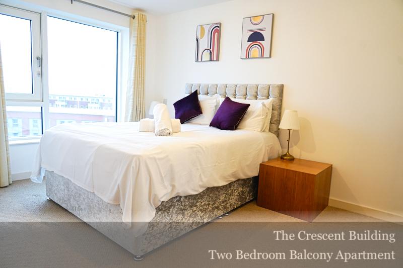 Light bedroom at Gunwharf Quays Serviced Apartments, Gunwharf Quays, Portsmouth - Citybase Apartments