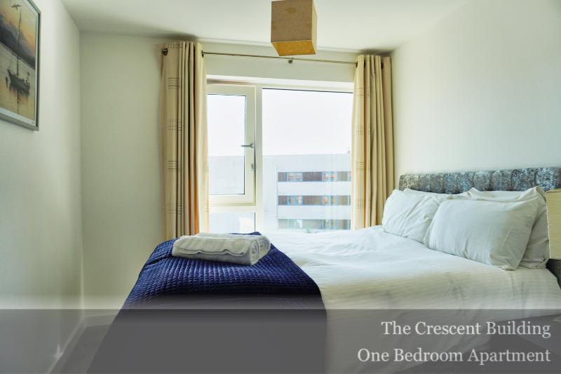 Bedroom area at Gunwharf Quays Serviced Apartments, Gunwharf Quays, Portsmouth - Citybase Apartments