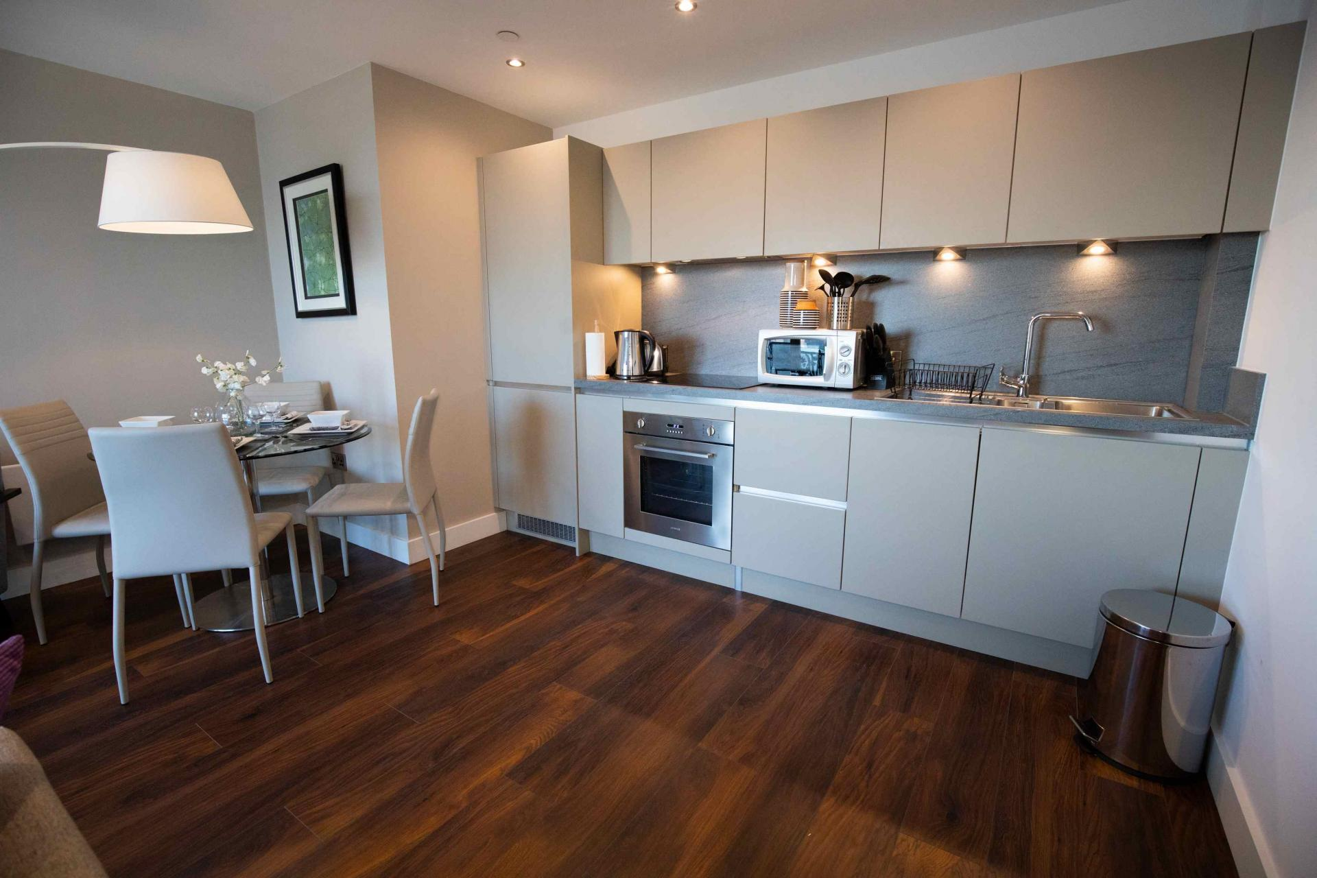Dining area at Manchester Greengate Apartments - Citybase Apartments