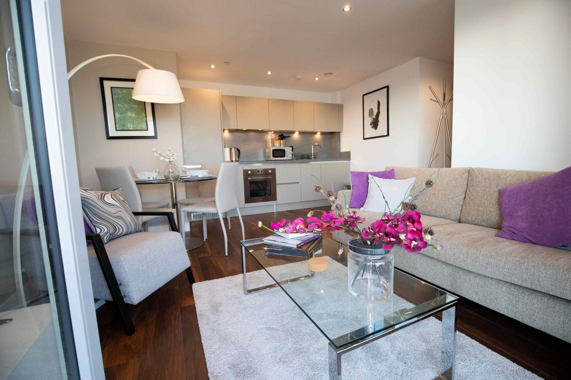 Lounge at Manchester Greengate Apartments - Citybase Apartments
