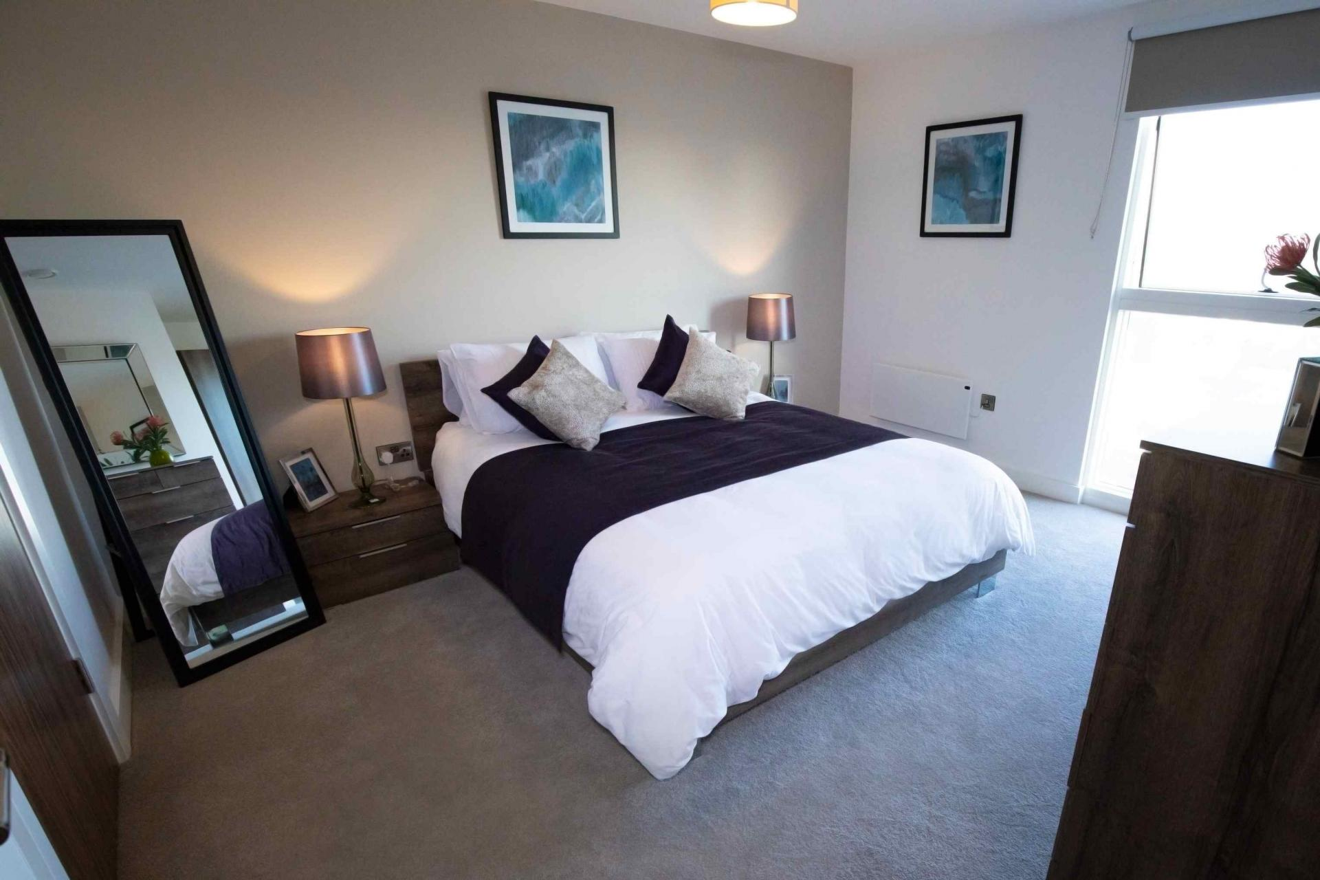 Bedroom 1 at Manchester Greengate Apartments - Citybase Apartments