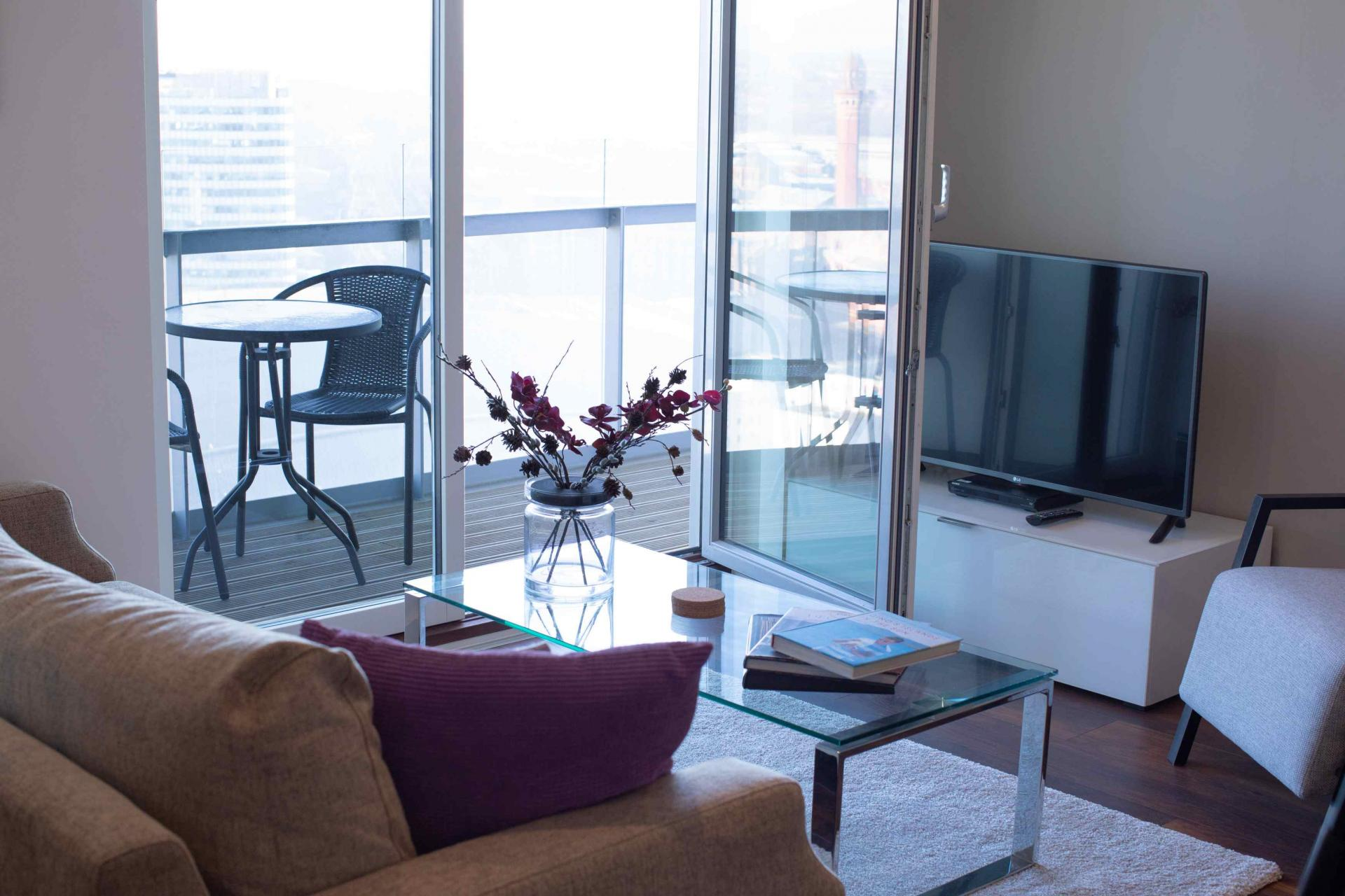 Lounge view at Manchester Greengate Apartments - Citybase Apartments