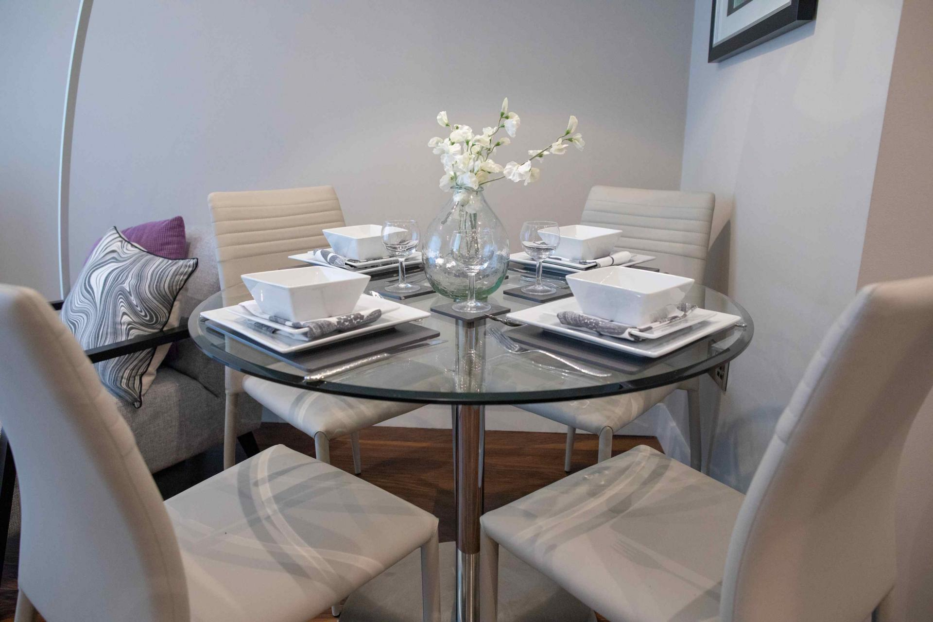 Table at Manchester Greengate Apartments - Citybase Apartments