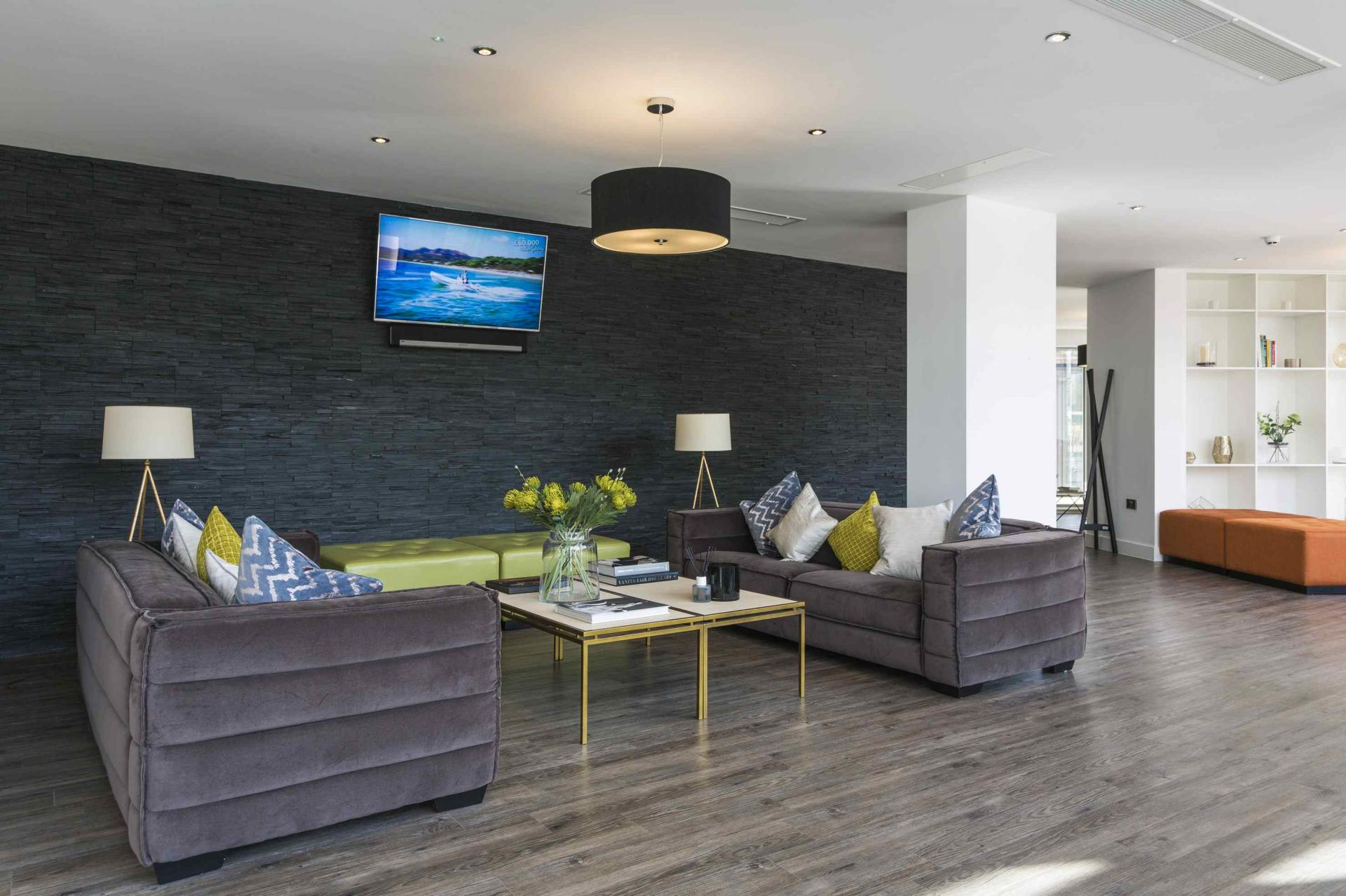 Communal lounge at Manchester Greengate Apartments - Citybase Apartments