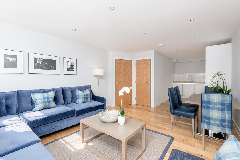 Living room at Royal Mile Residence Apartments - Citybase Apartments