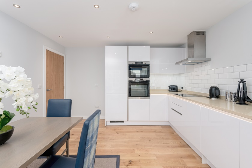 Modern kitchen at Royal Mile Residence Apartments - Citybase Apartments