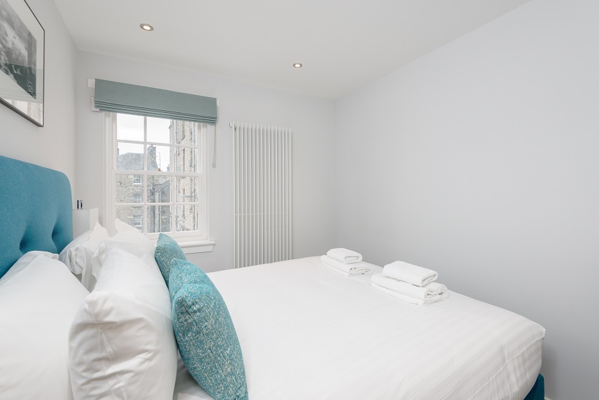 Bright bedroom at Royal Mile Residence Apartments - Citybase Apartments
