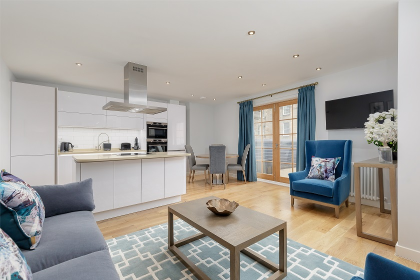 Lounge area at Royal Mile Residence Apartments - Citybase Apartments