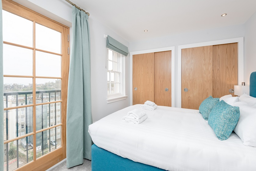 Bedroom view at Royal Mile Residence Apartments - Citybase Apartments