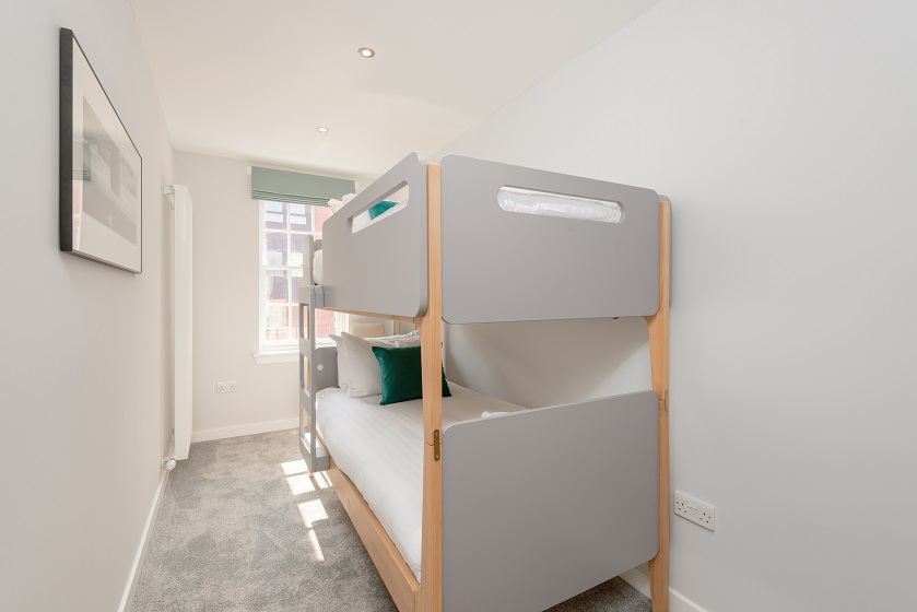 Bunk beds at Royal Mile Residence Apartments - Citybase Apartments