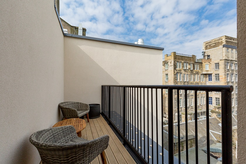 Balcony at Royal Mile Residence Apartments - Citybase Apartments
